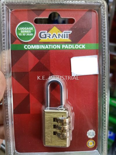 GRANIT - Luggage Combination Padlock