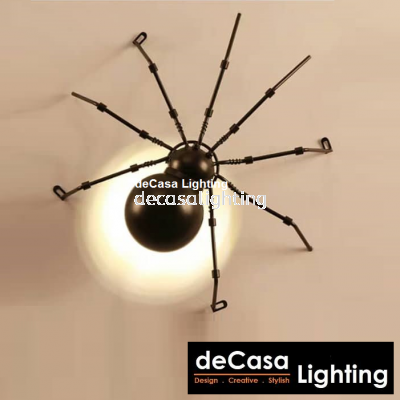 Vintage Wall Light Loft LED Wall Light Spider Wall Mounted Lights Bedroom Decorative