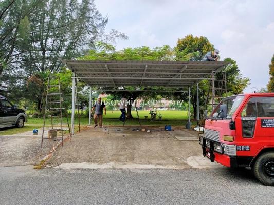 Metal Roofing Car Park @Jalan Putri Jaya 13 (Kuala Lumpur