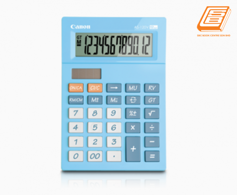 Canon - Calculator As-120V - (5476B003AA - Pastel Blue)