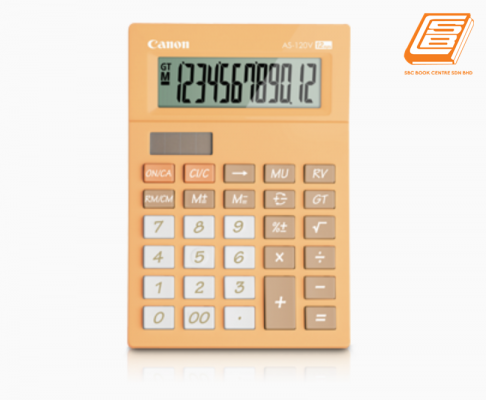 Canon - Calculator As-120V - (5476B008AA - Pastel Orange)