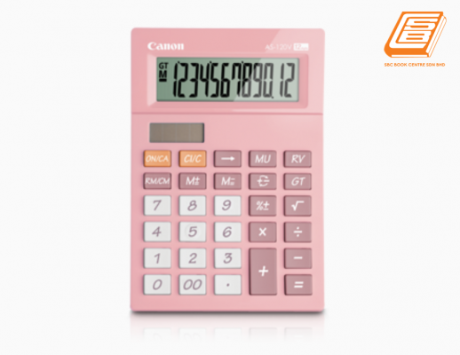 Canon - Calculator As-120V - (5476B006AA - Pastel Pink)