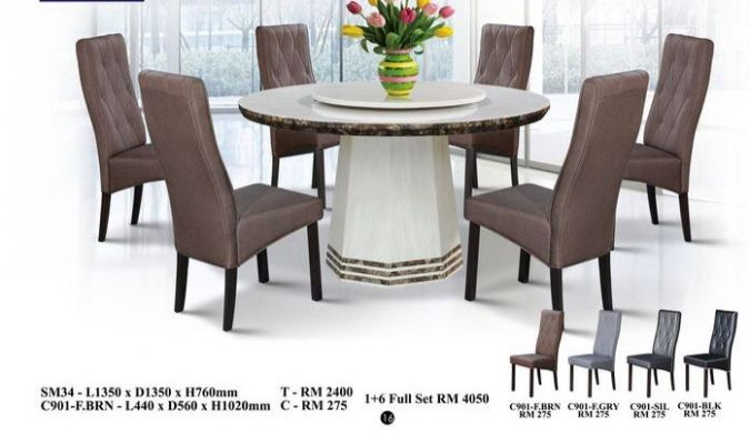Marble Dining Set 4 - 8 Chairs