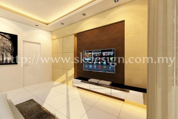 Reka Bentuk Dalaman Ruang Tamu - Malaysia
