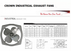 "CROWN 24"" FP60 Heavy Duty Industrial Exhaust Fan INDUSTRIAL FANS"