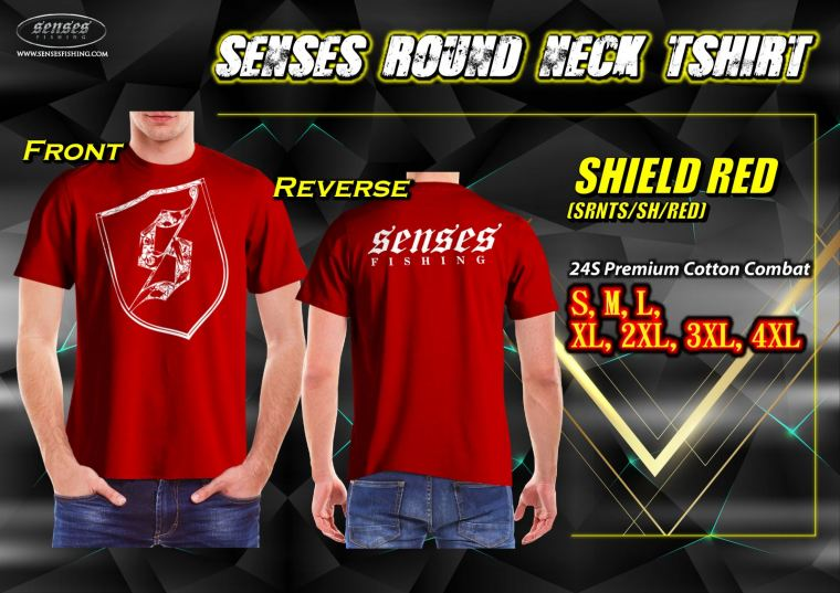 SENSES ROUND NECK TSHIRT-SHIELD RED