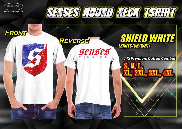 SENSES ROUND NECK TSHIRT-SHIELD WHITE