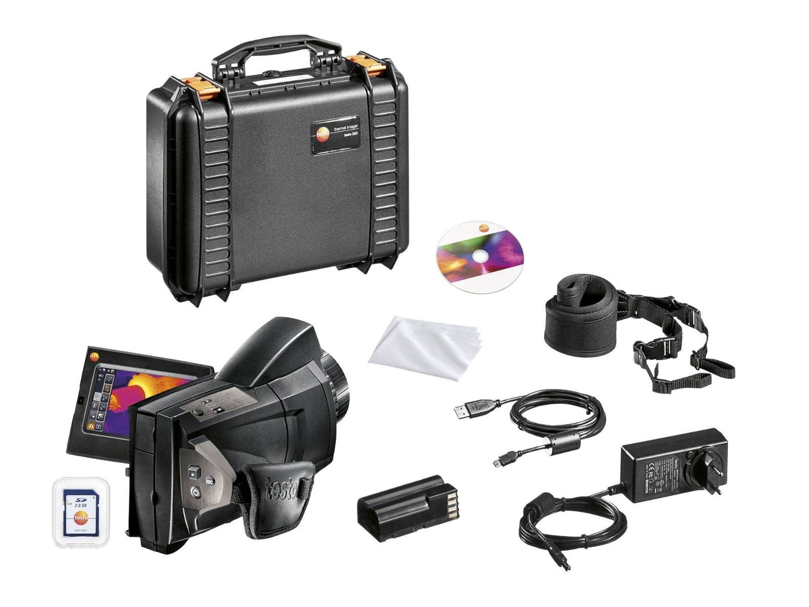 Testo 885 set - Thermal Imager with Super-telephoto Lens and One Lens