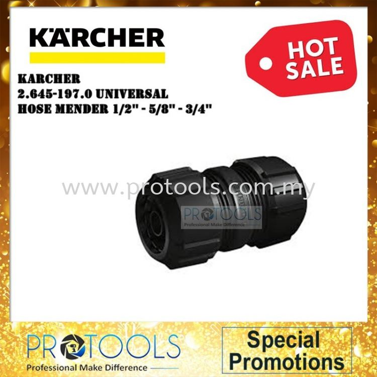 "Karcher Universal Hose Mender For 1/2"" - 5/8"" - 3/4"" 26451970"