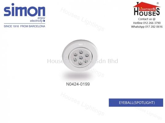 Simon Eyeball 0199 (6W) WH-R LED-WW