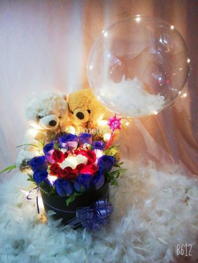 Bubble Balloon Flower Box