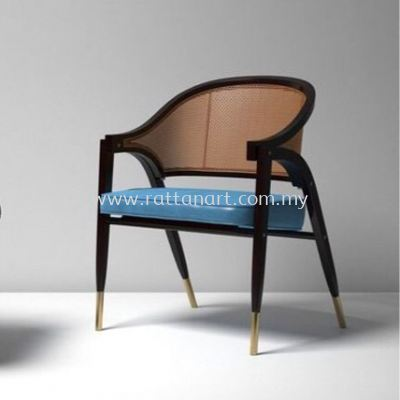RATTAN + WOOD DINING CHAIR WIND