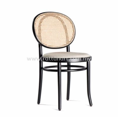 RATTAN + WOOD DINING CHAIR