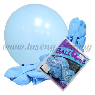 12 inch Standard Round Balloon -Pastel Light Blue 100pcs (B-12BK-PT4)