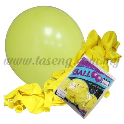 12 inch Standard Round Balloon -Yellow 100pcs (B-12BK-S4)