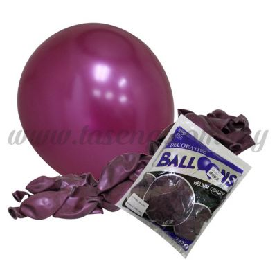 12 inch Metallic Round Balloon -Burgundy 100pcs (B-12BK-M7)