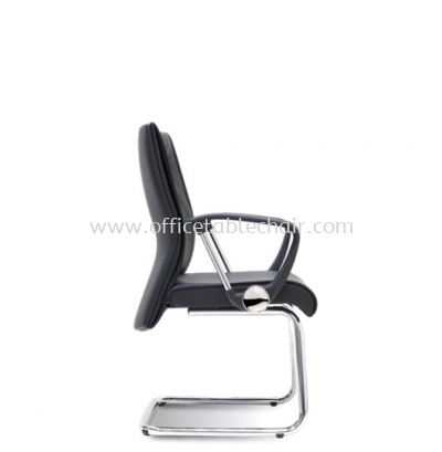 COLOGNE DIRECTOR VISITOR LEATHER CHAIR C/W CHROME CANTILEVER BASE