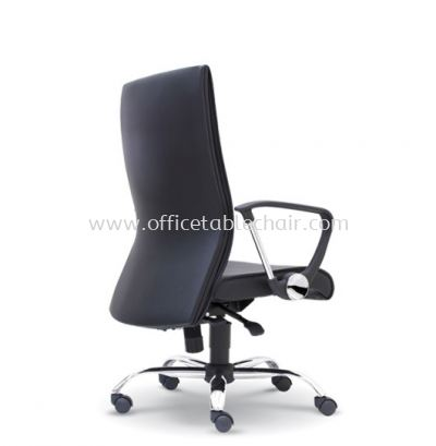COLOGNE DIRECTOR MEDIUM BACK LEATHER CHAIR C/W CHROME METAL BASE