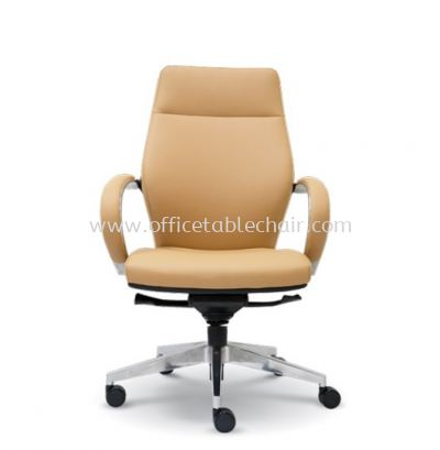 BUSSELTON DIRECTOR MEDIUM BACK CHAIR C/W ALUMINIUM ROCKET DIE-CAST BASE