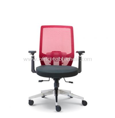 HOUSTON MEDIUM BACK MESH CHAIR C/W ROCKET ALUMINIUM BASE