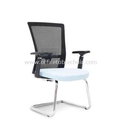DANVER 1 VISITOR MESH BACK CHAIR C/W CHROME CANTILEVER BASE