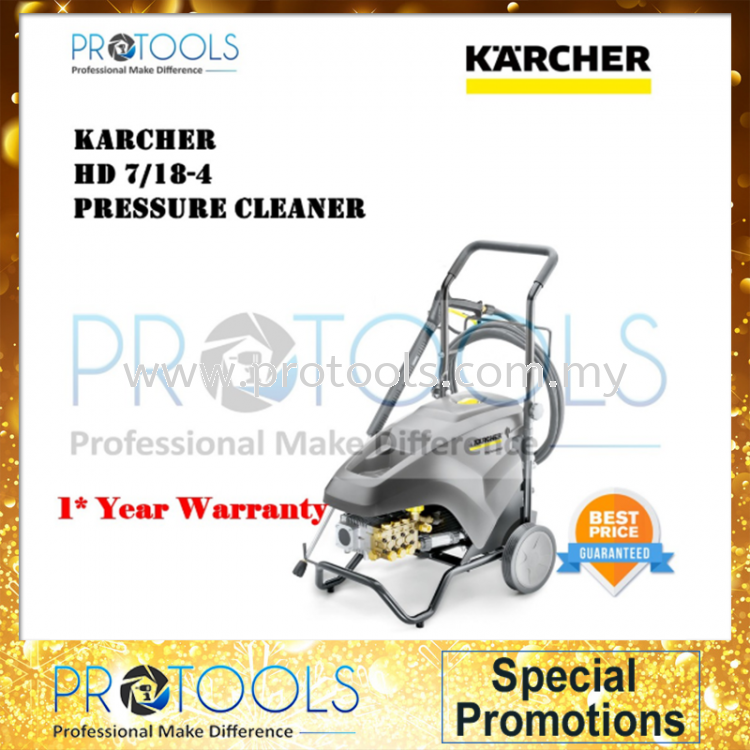KARCHER HD7/18-4 HIGH PRESSURE CLEANER - 1 YEAR WARRANTY