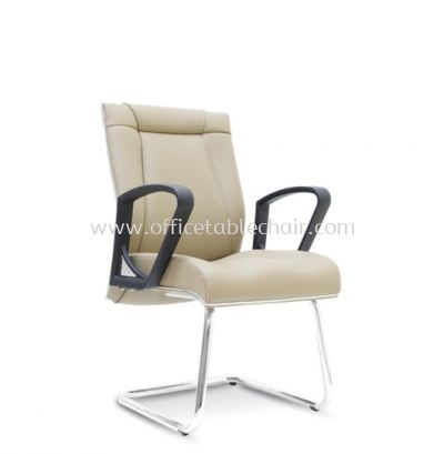 HARPERS EXECUTIVE VISITOR LEATHER CHAIR C/W CHROME CANTILEVER BASE