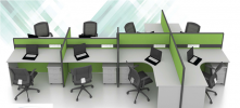 Diodia Concept Block System Office Partition/Workstation