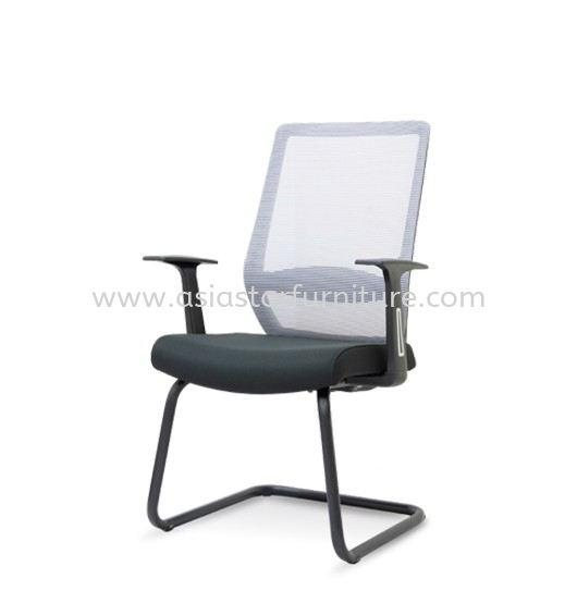 ELXO VISITOR MESH BACK CHAIR C/W EPOXY BLACK CANTILEVER BASE