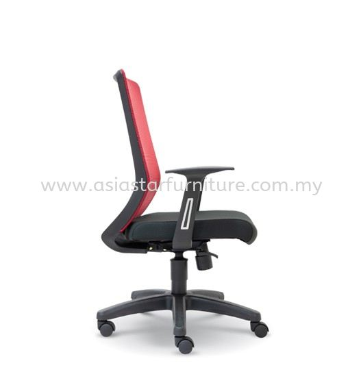 ELXO LOW BACK MESH CHAIR C/W POLYPROPYLENE BASE