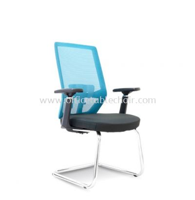 HOUSTON 1 VISITOR MESH BACK CHAIR C/W CHROME CANTILEVER BASE