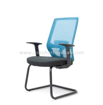 HOUSTON VISITOR MESH BACK CHAIR C/W EPOXY BLACK CANTILEVER BASE