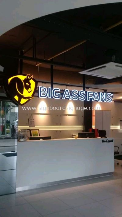 Big Ass Fans Indoor 3D Signage With LED