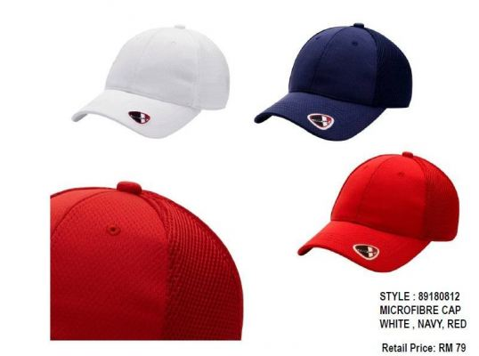 CREST LINK MICROFIBER CAP WHITE / NAVY / RED