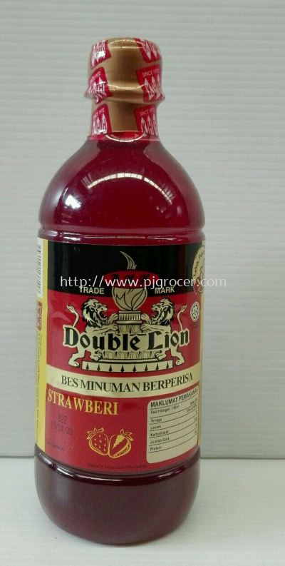 KHH Double Lion Strawberry Flavoured 495ml