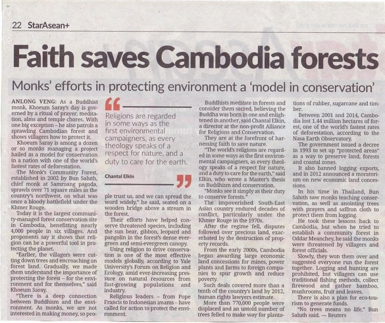 Faith Saves Cambodia Forests