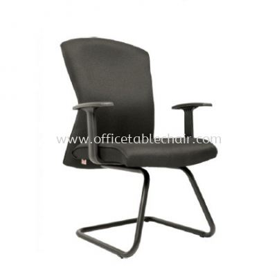 CHERRY STANDARD VISITOR FABRIC CHAIR C/W EPOXY BLACK CANTILEVER BASE