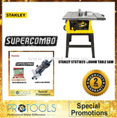 STANLEY STST1825 1800W TABLE SAW FOC MAKITA ROUTER SET