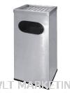 Stainless Steel Rectangular Waste Bin c/w Ashtray Top RAS-122/A Stainless Steel Bin Hotel Supply