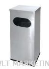 Stainless Steel Rectangular Waste Bin c/w Flat Top RAS-123/F Stainless Steel Bin Hotel Supply
