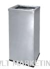 Stainless Steel Rectangular Waste Bin c/w Open Top RAS-124/OT Stainless Steel Bin Hotel Supply