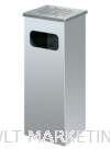 Stainless Steel Square Ashtray Bin SQB-003/SS Stainless Steel Bin Hotel Supply