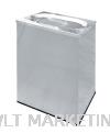 Stainless Steel Rectangular Waste Bin c/w Oval Top Opening RAS-121/OT Stainless Steel Bin Hotel Supply