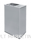 Stainless Steel Rectangular Waste Bin c/w 1/3 Ashtray and 2/3 Open Top RAS-120/H Stainless Steel Bin Hotel Supply