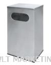 Stainless Steel Rectangular Waste Bin c/w Flat Top RAS-110/F Stainless Steel Bin Hotel Supply