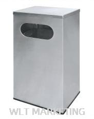 Stainless Steel Rectangular Waste Bin c/w Flat Top RAS-110/F