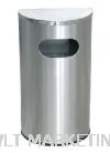 Stainless Steel Semi Round Bin c/w Flat Top SRB-059/F Stainless Steel Bin Hotel Supply