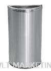 Stainless Steel Semi Round Bin c/w Open Top SRB-055/OT Stainless Steel Bin Hotel Supply