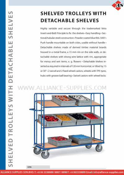 11.13 Shelved Trolleys with Detachable Shelves