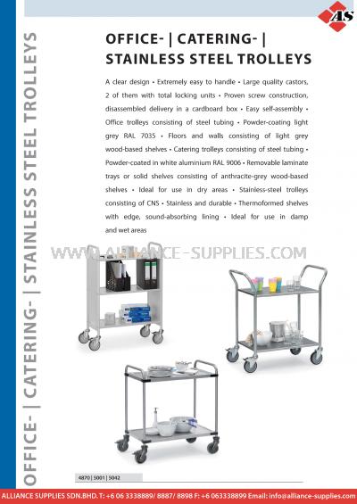 11.16 Serving / Stainless Steel Trolleys